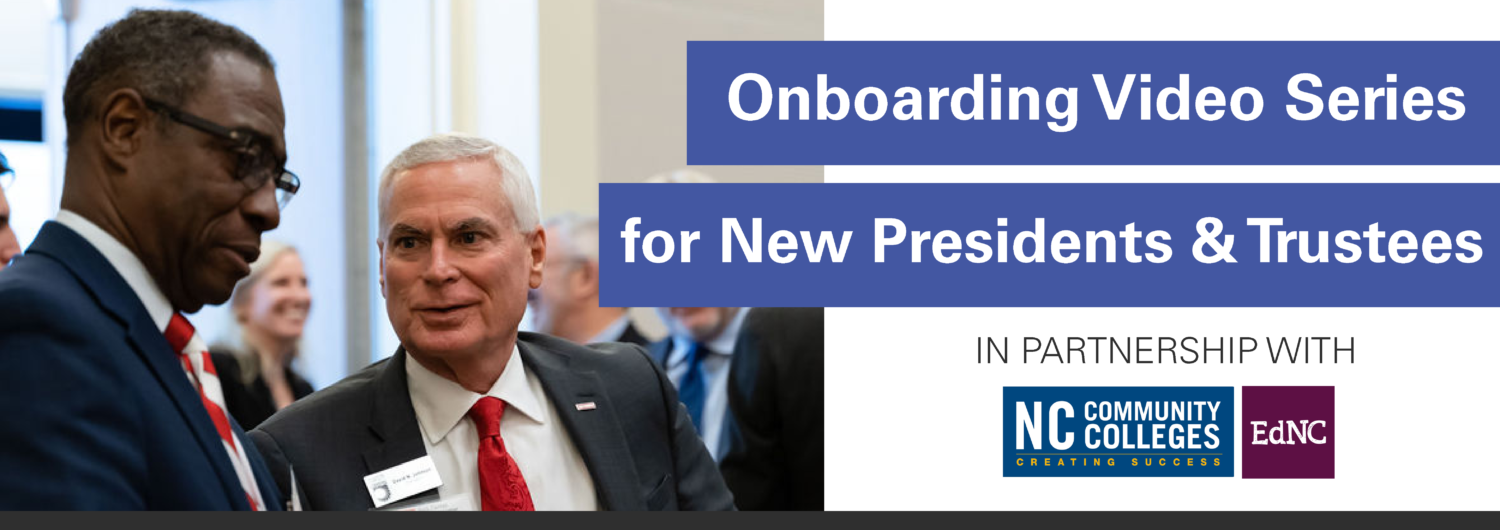 Onboarding Video Series for New Presidents and Trustees